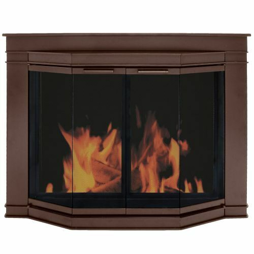 Pleasant Hearth Oil Rubbed Bronze Glacier Bay Large Fireplace Glass
