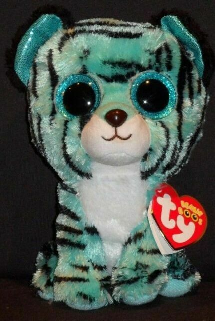 """TESS the 6/"""" TIGER JUSTICE EXCLUSIVE TY BEANIE BOOS MINT with MINT TAG"""