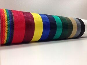 Bracelet sangle en polypropylène - 12mm 5mm 20mm 25mm 40mm 50mm 75mm - 13 couleurs  </span>