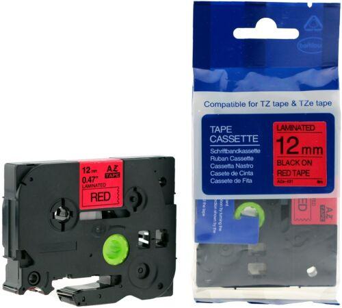 Schriftbandkassette kompatibel zu Brother P-Touch 1000 12mm laminiert