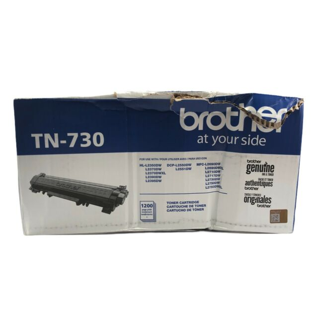 Brother TN730 Black Toner Cartridge Standard Yield - Genuine Free Shipping!