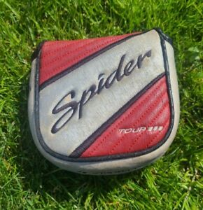 TAYLORMADE SPIDER TOUR III MALLET PUTTER HEADCOVER - Red Silver Black Head Cover