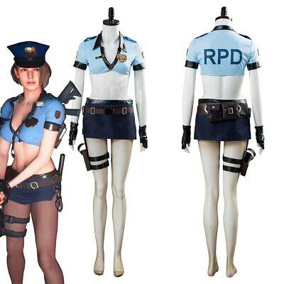 Resident Evil 3 Remake Jill Valentine Cosplay Costume Police