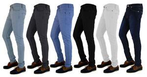MENS-SKINNY-JEANS-DENIM-SUPER-STRETCH-SLIM-FIT-ALL-WAIST-amp-LEG-SIZES-BLACK-BLUE
