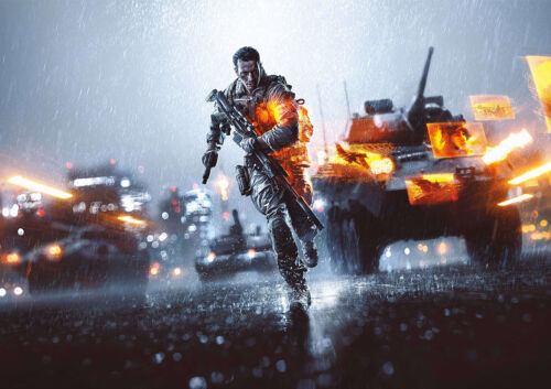 CHOOSE YOUR SIZE FREE P+P Battlefield 4 Poster Smash Hit EA Game Xbox PS4 NEW