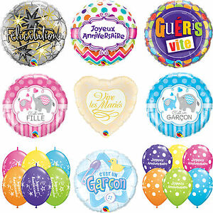 Frances-IDIOMAS-Latex-amp-METALIZADO-Qualatex-Globos-Anniversaire-bebe-Maries