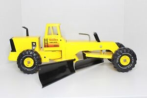 Mighty-Tonka-Turbo-Diesel-Road-Grader-Yellow-w-Side-Blade-XMB-975