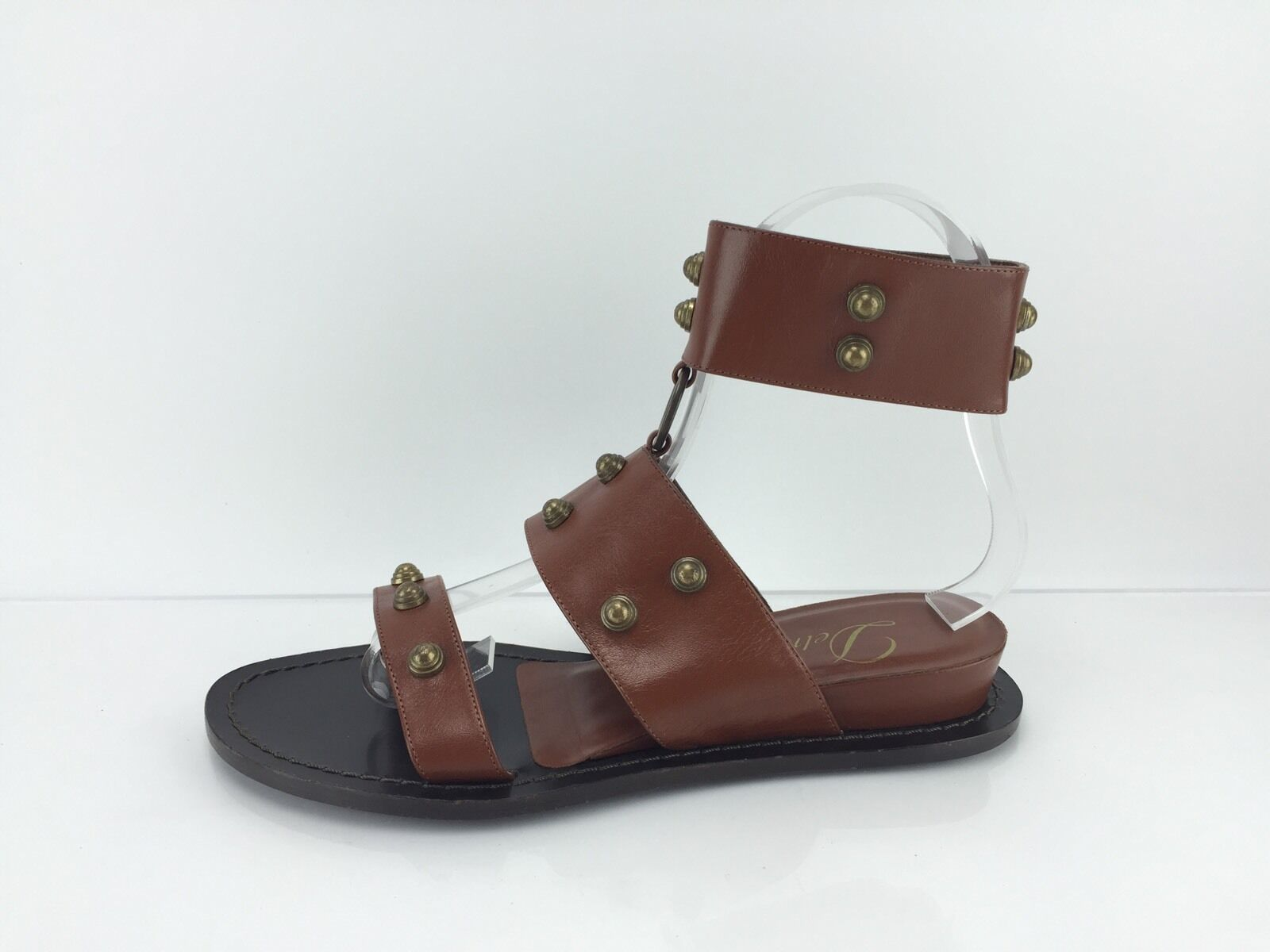 Delman 5.5 Women's Brown Studded Sandals 5.5 Delman B 112a1c