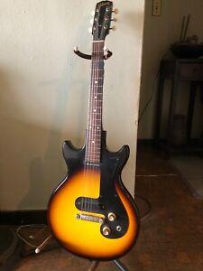 1964-Gibson-Melody-Maker-3-4-Sunburst-100-Original-Vintage-Electric-Guitar