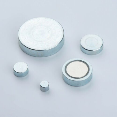 Neodym Topfmagnet zum Einkleben Flachgreifer Magnet NdFeB extra starkbis 66kg