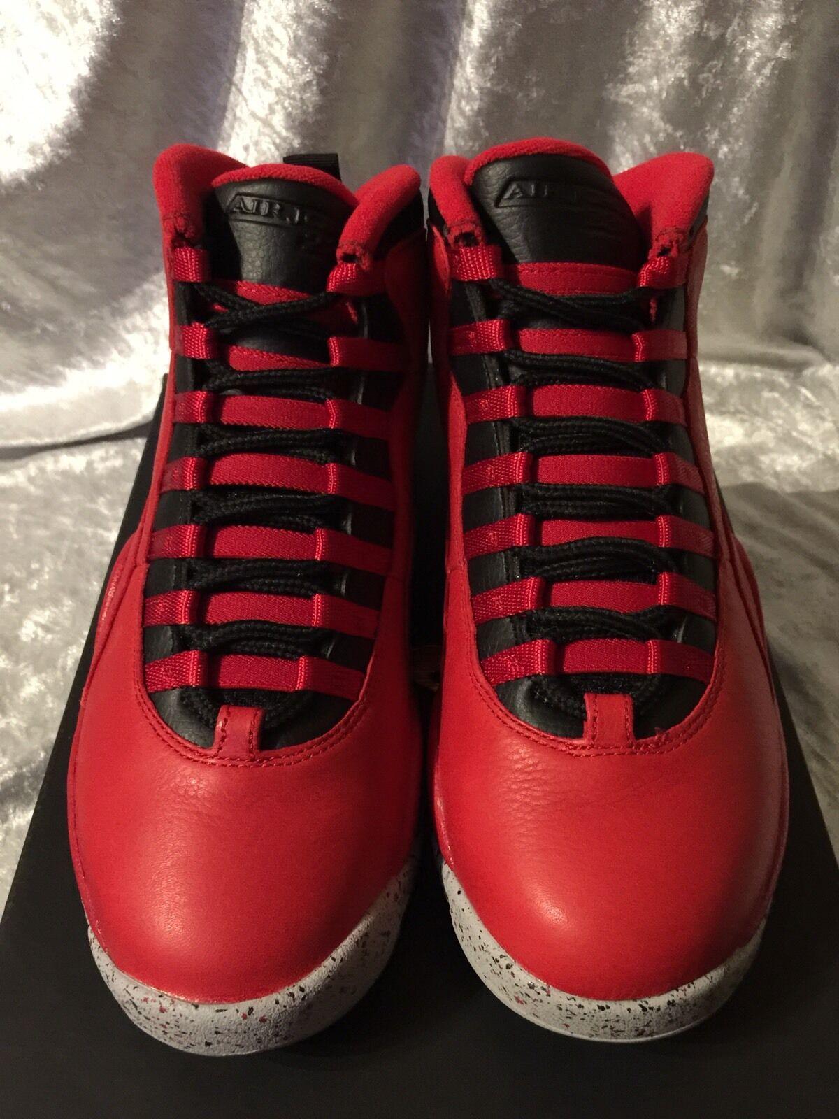 Nike jordan 10 retro rosso / blk tori per bway dimensioni