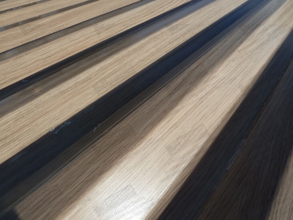 Oak Woodgrain Effect Fencing Wall Sheets Metal Steel Fence