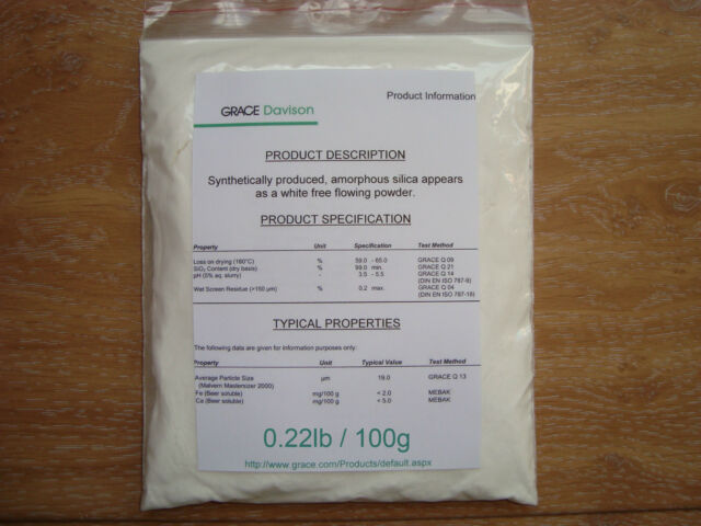 100g of Powdered Silica gel for Beer Clarification - DARACLAR (amorphous silica)