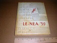 1959 Contentnea Kinston High School Yearbook  Lenoir County NC North Carolina