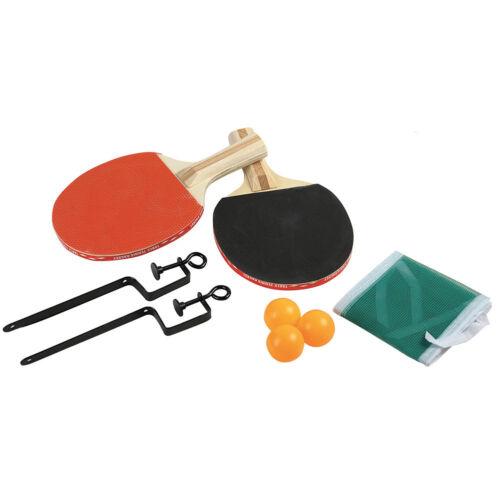 kit Ping Pong Tennis da Tavolo Rete Racchette 2 Colori 3 Palline Grandi Giochi