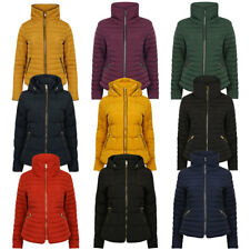 Womens Tokyo Laundry Quilted Hooded Funnel Neck Winter Jacket Size 8-16