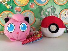 Pokemon Plush Jigglypuff Reversible Hasbro Soft Pokeball doll stuffed figure toy