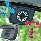Solar Power Car Window Fan Auto Ventilator Cooling Vehicle Air Vent Portable KJ