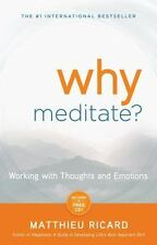 Why Meditate : Working with Thoughts and Emotions by Matthieu Ricard (2010, Pape