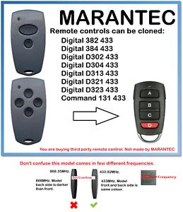 alarms 433,92 MHz Fixed-freq remote duplicator gates