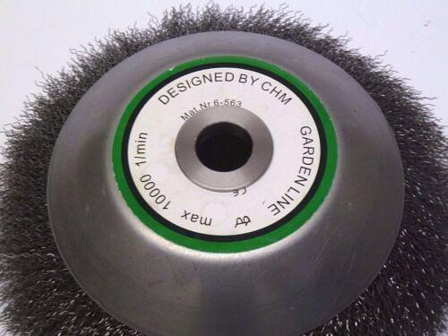 Unkrautbürste für STIHL Motorsense 200 x 20 mm m M 10 Gewinde Adapter f