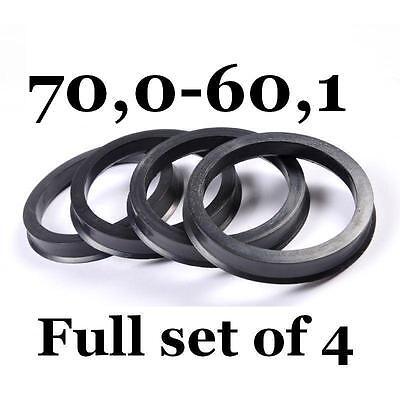 Alloy Wheel Hub Centric Spigot Rings 76.0-71.6 Wheel Spacer Set of 4