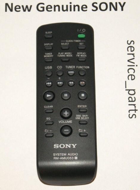 New Remote RM-AMU053 Replace The RM-SCU37B For SONY MHC-EX660 HCD-EX660Z