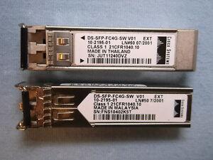 Lot-of-2-Cisco-DS-SFP-FC4G-SW-SFP-Fiber-Transceiver-850nm-10-2195-01-Mini-GBIC