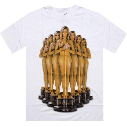 TROPHYWHT $30.00 TITS Trophy Wife Tee white