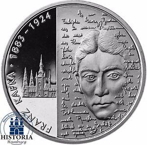 Deutschland 10 Euro Franz Kafka 2008 Silber Gedenk Münze