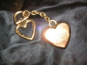 283437cba499 Details about JUICY COUTURE LARGE SOLID HEART KEY CHAIN OR PURSE HANGER IN  GOLD - FREE SHIP