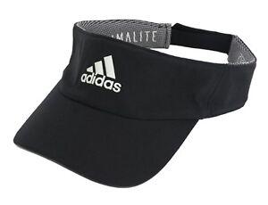 50190b619c5 Adidas Climalite Visor Caps Running Hat Golf Black OSFW OSFM Hats ...