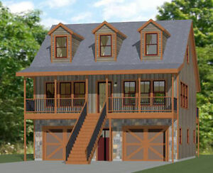 30x32 House -- 1 bedroom 1.5 Bath -- 1,489 sqft -- PDF Floor Plan -- Model 3B