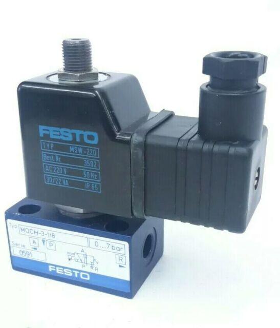 Festo MOCH-3-1/8 220V Pneumatik Magnetventil Soleniod Valve 90912.2