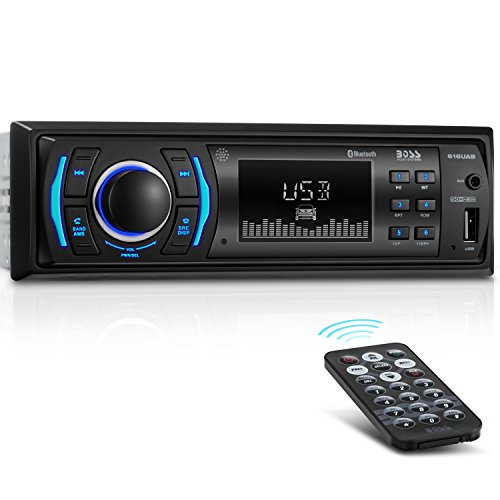 BOSS Audio Car Receiver No CD/DVD Model 616UAB | Single Din Bluetooth MP3/USB...
