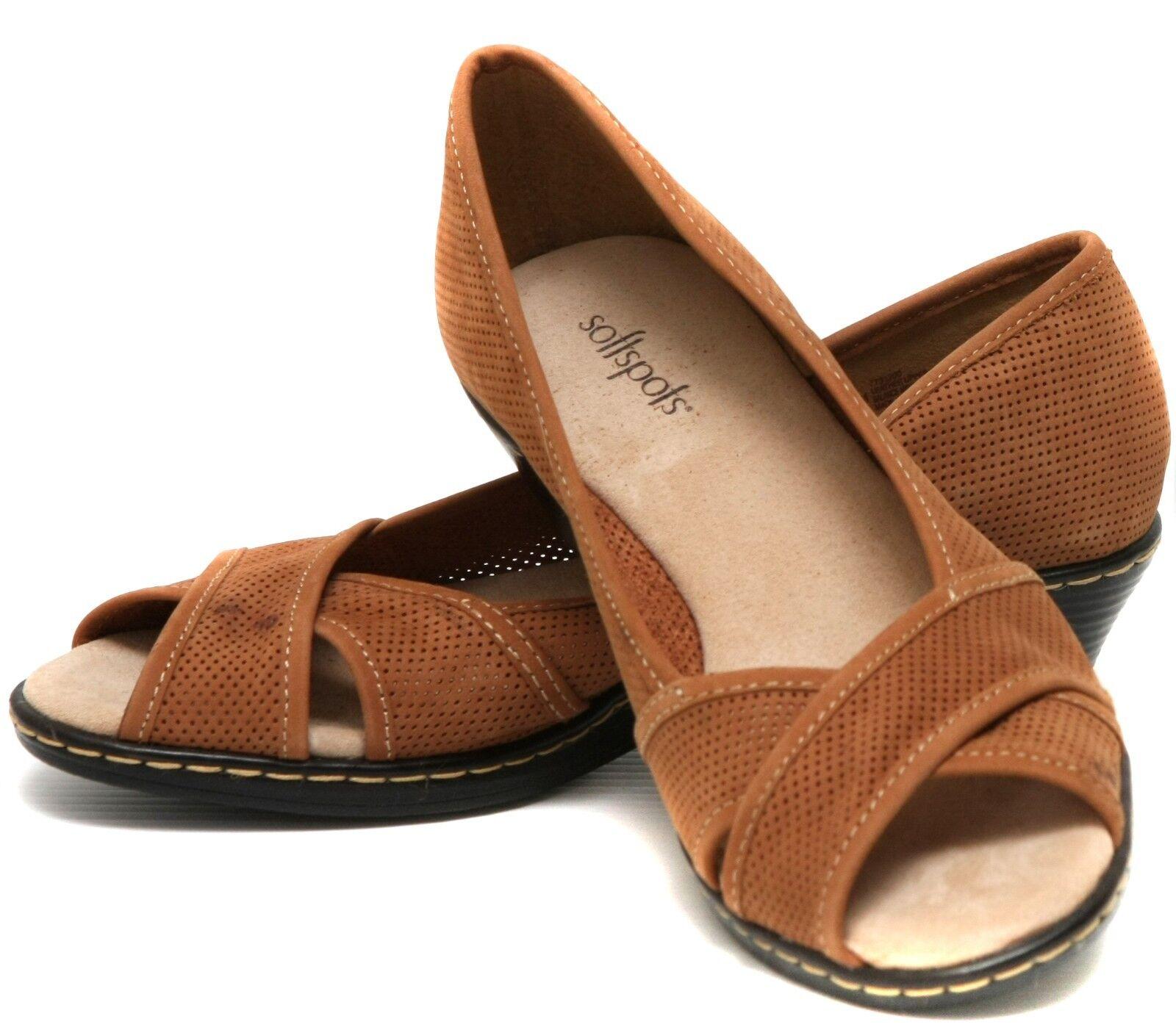 New Softspots Womens Wedge Heels 7731200 Eerin  Nubuck shoes  sz 6
