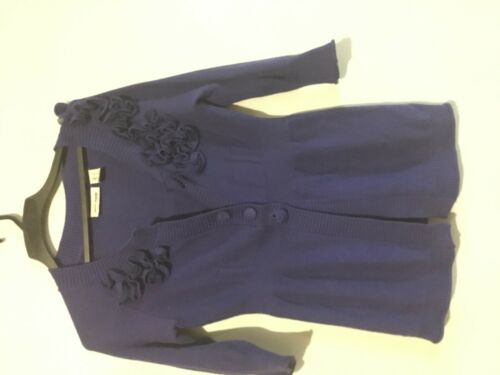 Maglione Dkny elegante Sp Size Floral Jeans Purple Petite Cardigan pqAErwp