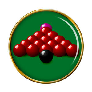 Snooker-Broche-Badge