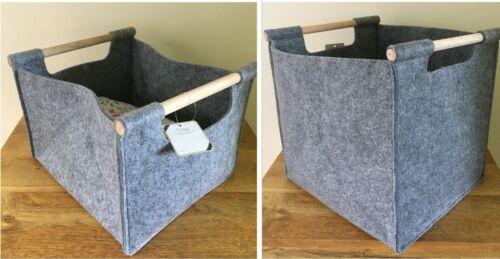 Hilo de ganchillo bolso fieltro resistente con asas de madera 2 Tamaños Disponibles