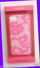 Victoria's Secret Light Dark PINK FLORAL LACE DESIGN iPhone 4 / 4s Fitted Case