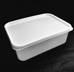 10 x 2 Litre Rectangular Ice Cream tubs + Lids Kitchen Food Storage containers