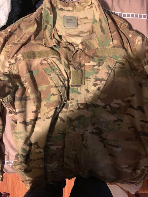 US ARMY Military Multicam Top Jacket OEF-CP Camo Medium Regular