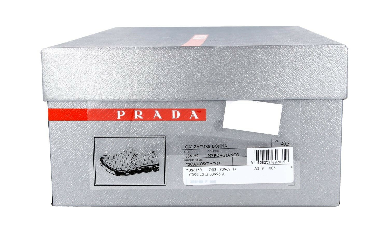 AUTHENTIC AUTHENTIC AUTHENTIC LUXURY PRADA baskets chaussures 3S6159 noir NEW US 10.5 EU 40,5 41 UK 7.5 3f58ad