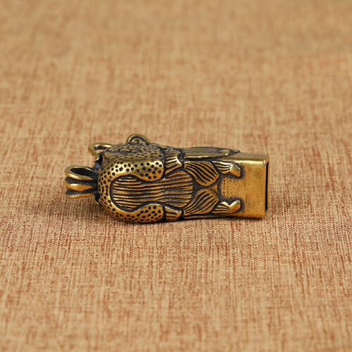 Brass Satety Whistle Dragon Head Survial Whistles Outdoor Sport Whistle Keychain