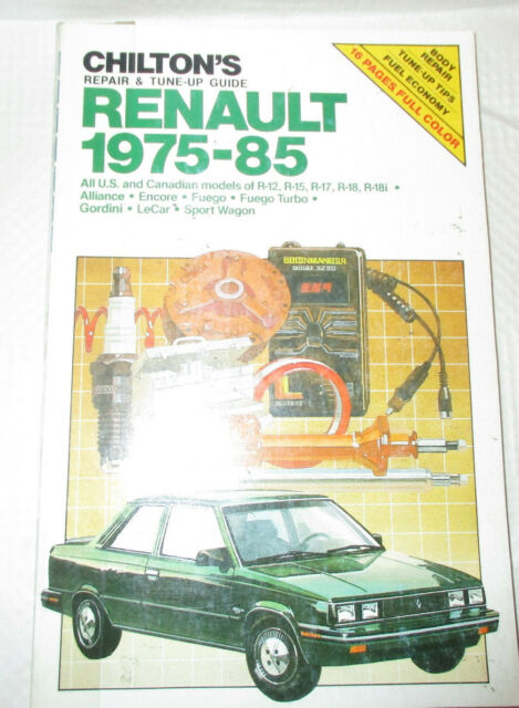 Chilton U0026 39 S Repair  U0026 Tune Up Guide Renault 1975