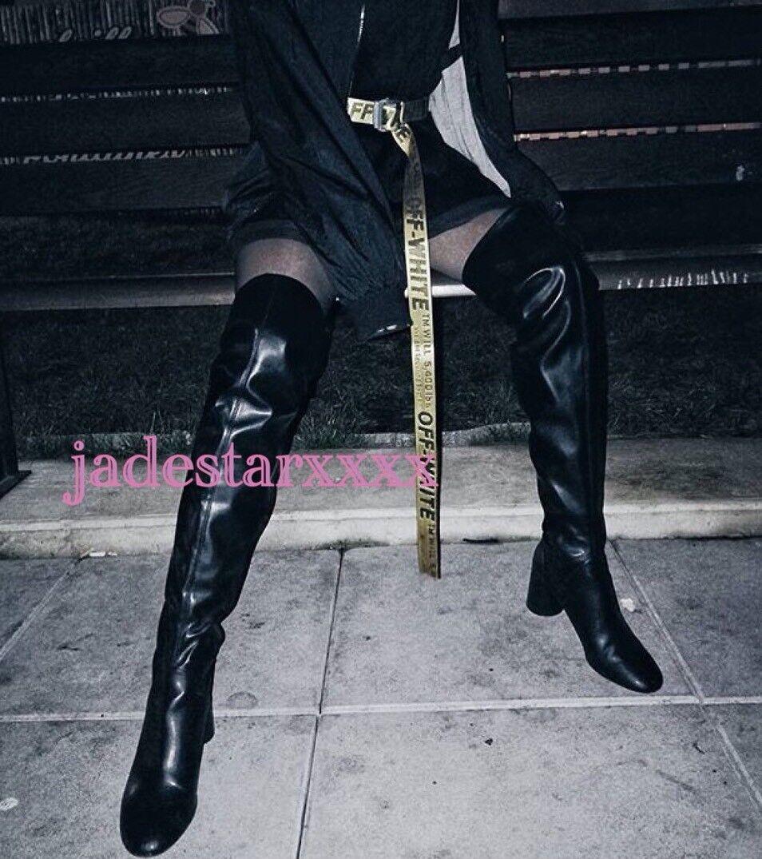 Black Over Knee Zara High Heel Boots 6 39 New BNWT