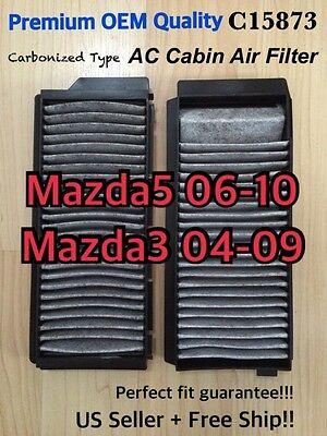 C15873 Premium Quality CABIN AIR FILTER set for 04-09 Mazda3 /& 06-10 Mazda5