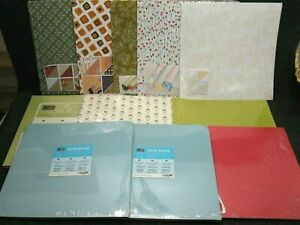 Stampin-039-Up-Lot-Of-11-Packs-Of-Designer-Kits-Patterned-Paper-amp-Card-Stock-12x12