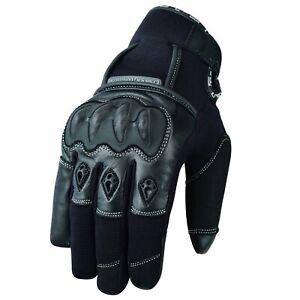 Wasserdicht-Motorrad-Winter-Handschuhe-Schwarz-Motorrad-Roller-Winter-Handschuhe