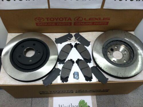Toyota Sienna 2011-2018 New Genuine Front Brake Rotors /& TCMC Pads /& Shims